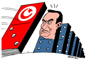 después de Túnez Hosni Mubarak en Egipto