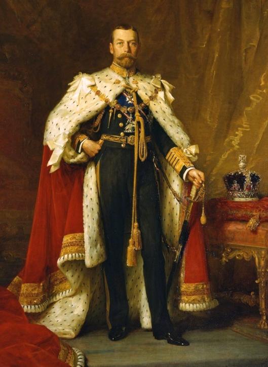 King George V en 1911 (si lo pueden diferenciar del zar de Rusia su primo o del kaiser alemán su primo también)