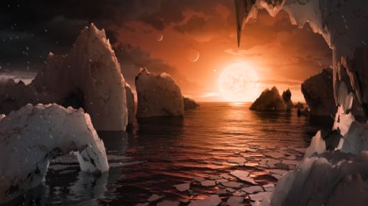 Artística impresión de uno de ellos ultracold y en torno a la red dwarf stellaris